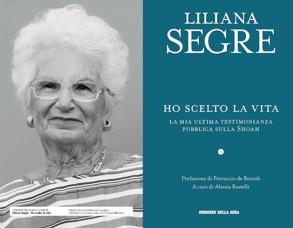Il libro di Liliana SEgre 'Volevo solo vivere' in uscita venerdì 30 ottobre con il Corriere della Sera