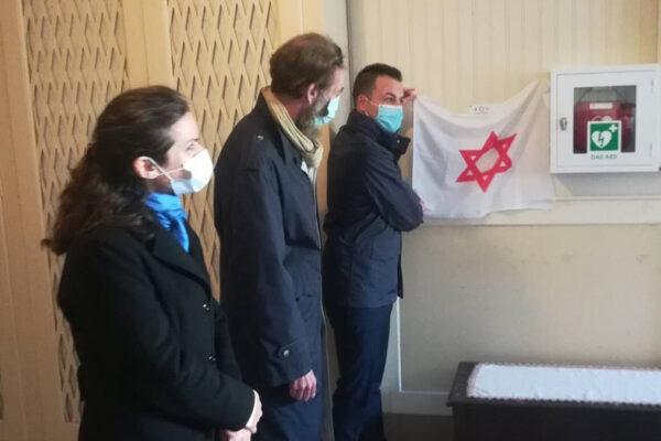 L'attivazione del defibrillatore del Magen David Adom Italia nella comunità ebraica di Venezia