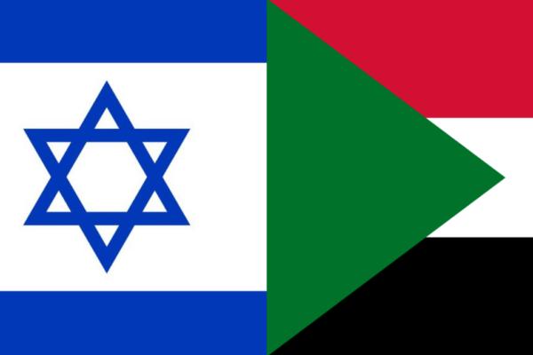 le bandiere di Israele e Sudan