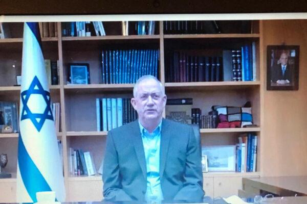 Il Ministro della Difesa israeliano Benny Gantz