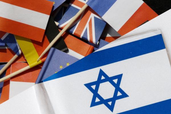bandierine d'Europa e israeliane