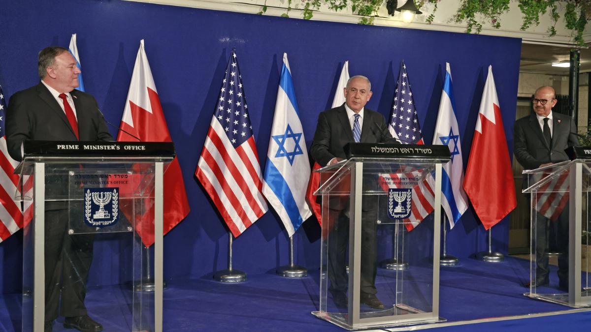 Netanyahu incontra il ministro degli esteri del Bahrein a Gerusalemme