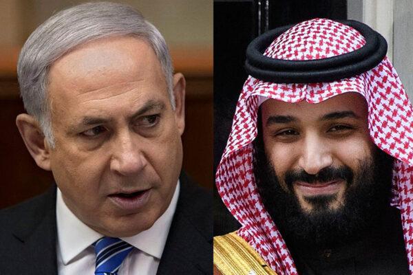 Beniamin Netanyahu e il principe saudita Mohammed Bin Salman