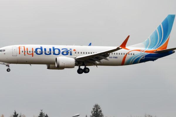 Un aereo della compagnia FlyDubai