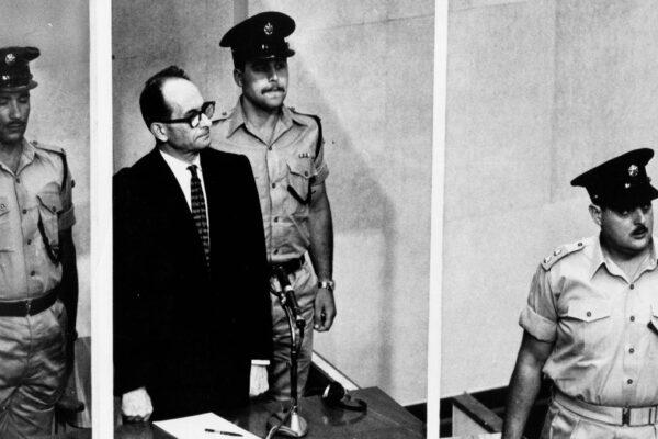 Adolf Eichmann al suo processo in Israele