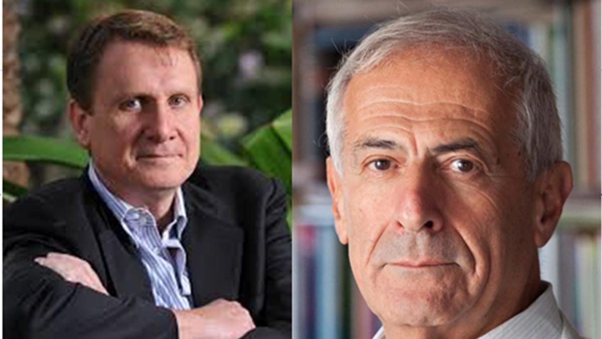 Da sinistra, Lucio Caracciolo, direttore Limes, e lo studioso Sergio Della Pergola