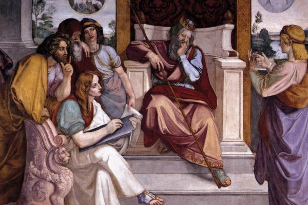 Giuseppe interpreta i sogni del Faraone (affresco di Peter Cornelius)