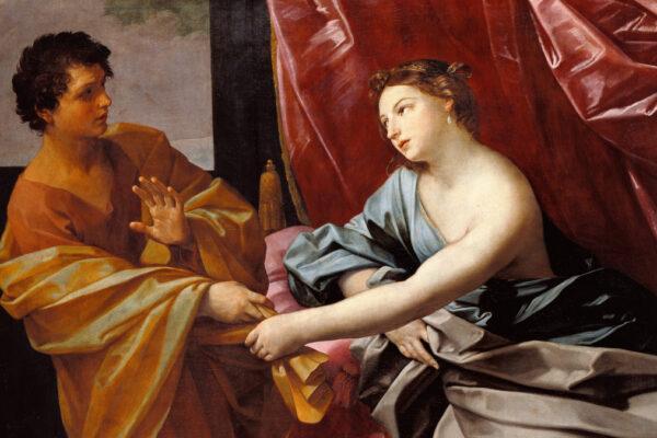 Giuseppe e la moglie di Potifar, di Guido Reni