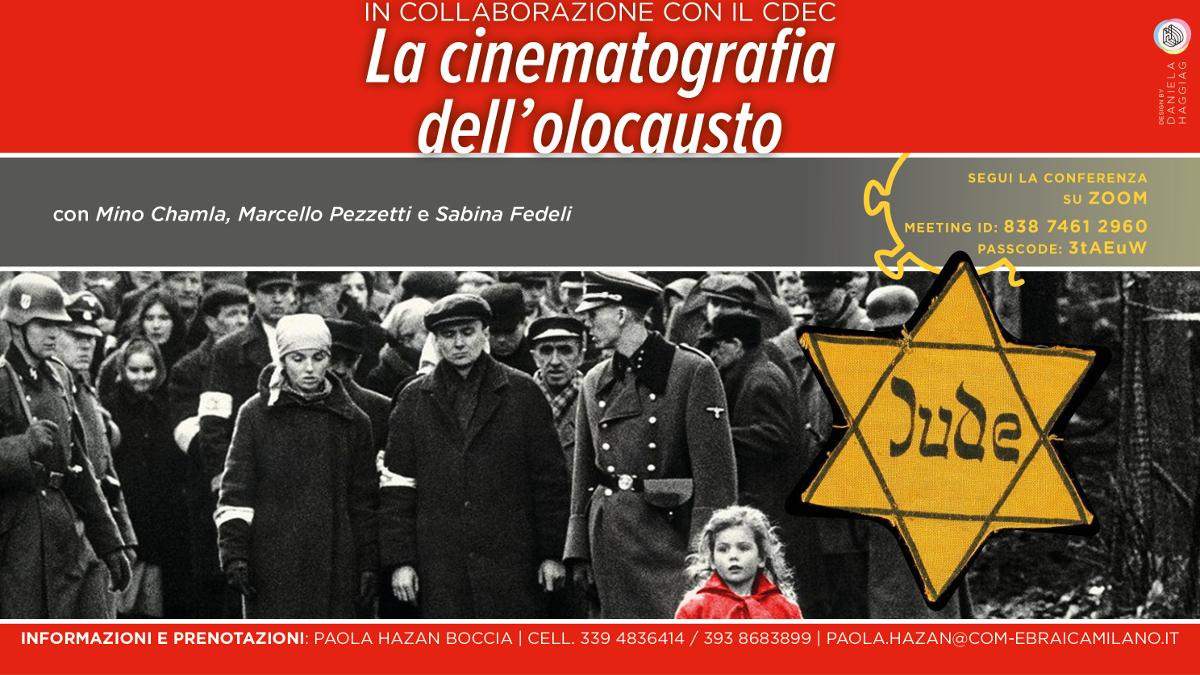 La locandina dell'evento su Cinema e Shoah del 17 gennaio