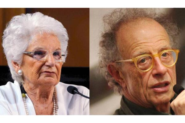 Da sinistra Liliana Segre e Gherardo Colombo