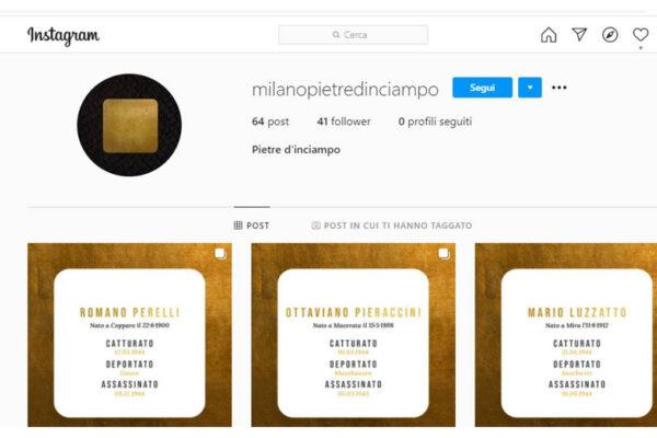 Il progetto delle Pietre di inciampo su Instagram firmato Imille