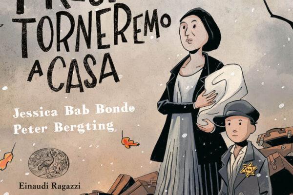 La copertina deòlòa graphic novel 'Presto torneremo a casa'