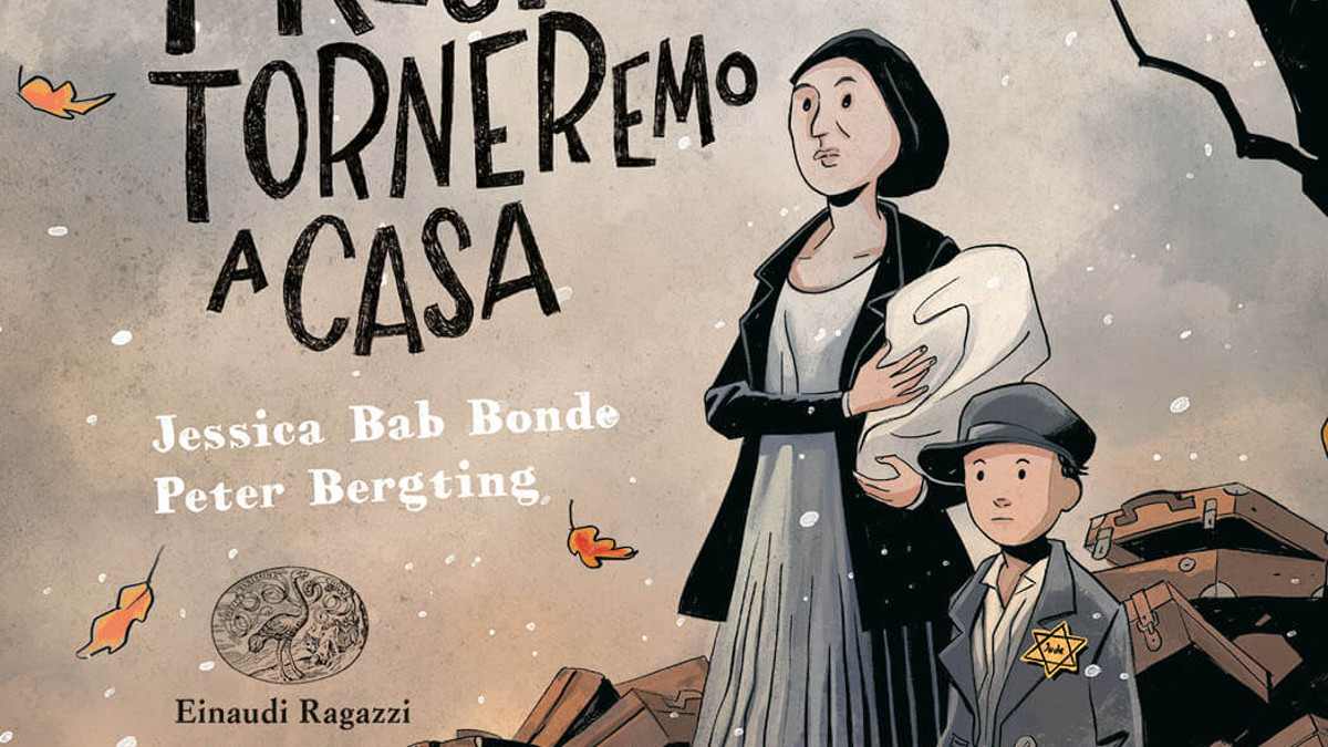 La copertina deòlòa graphic novel 'Presto torneremo a casa'