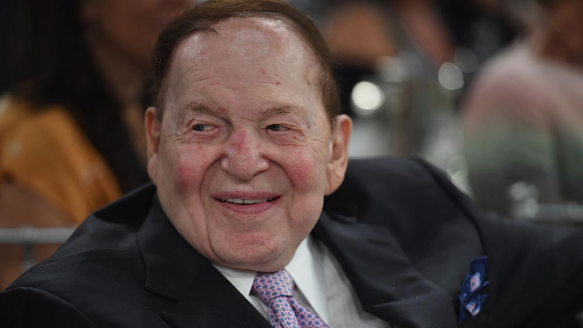 Il filantropo americano Sheldon Adelson