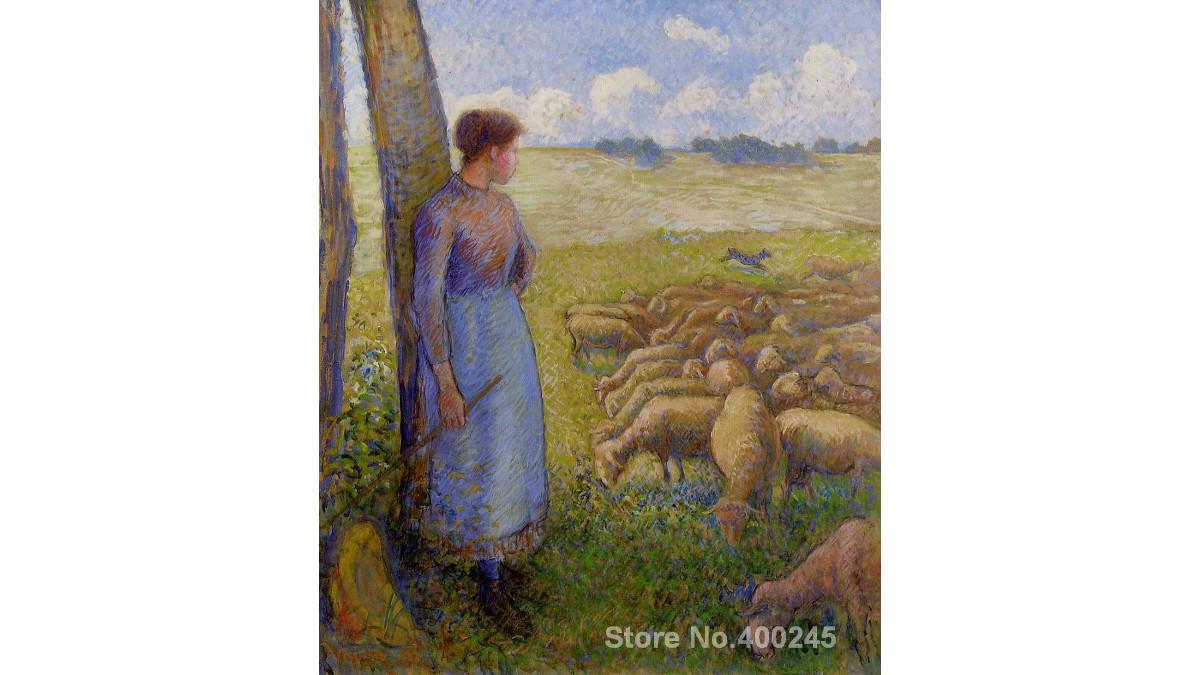 Il dipinto trafugato di Camille Pissarro 'Pastorella e pecore'