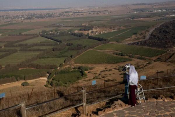 Vista su Israele e Siria dal Monte Bental