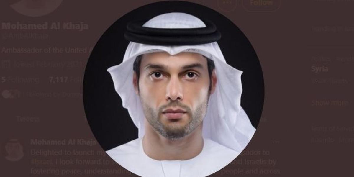 Mohamed Mahmoud Al Khaja, primo ambasciatore degli Emirati in Israele