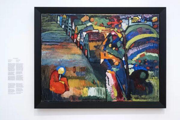 Dipinto con case di Kandinsky