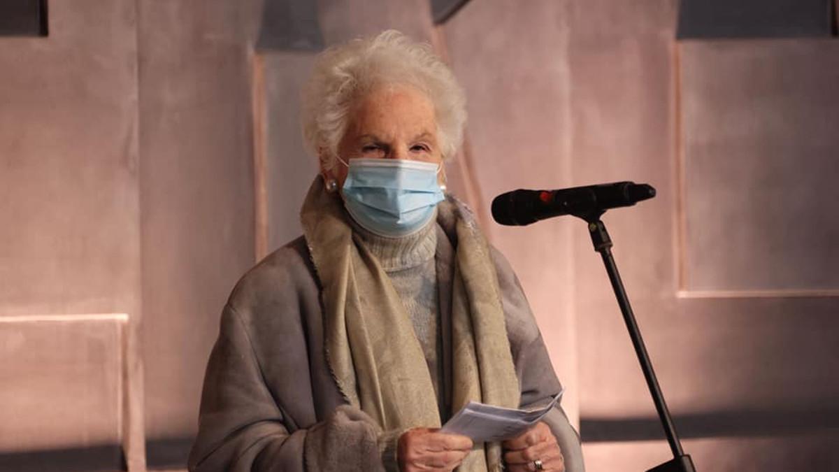 Liliana Segre al memoriale della Shoah il 31 gennaio