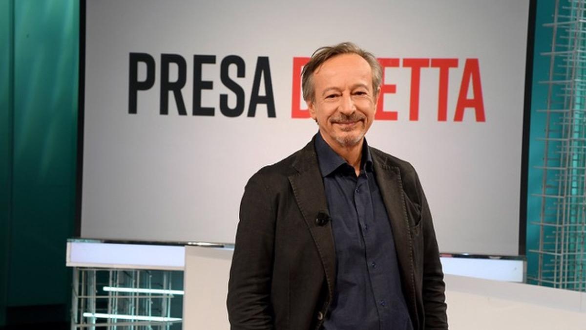 Il conduttore di Presa Diretta Riccardo Iacona