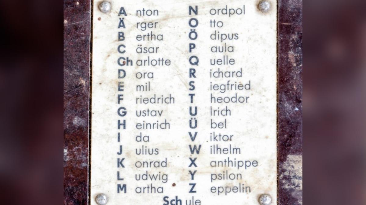 Alfabeto fonetico tedesco usato per lo spelling
