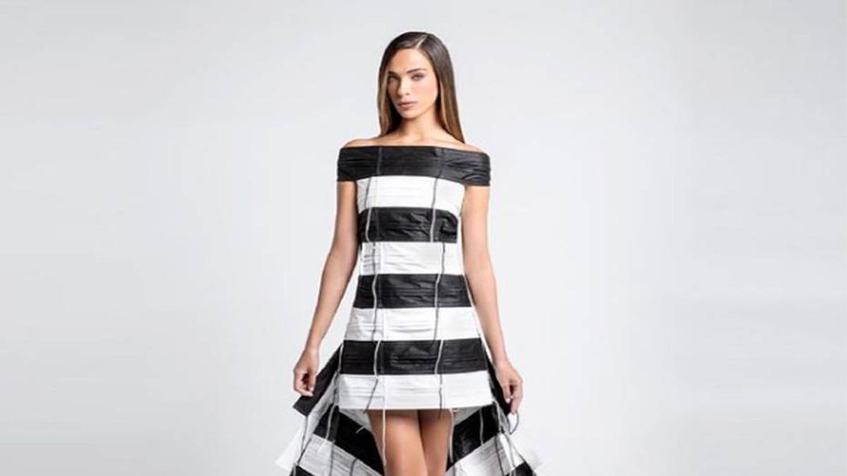 Il vestito di mascherine che Miss Israele indosserà a Miss Universo