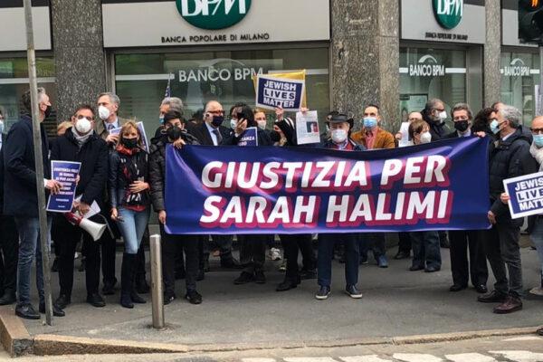 Manifestazione per Sarah Halimi a Milano