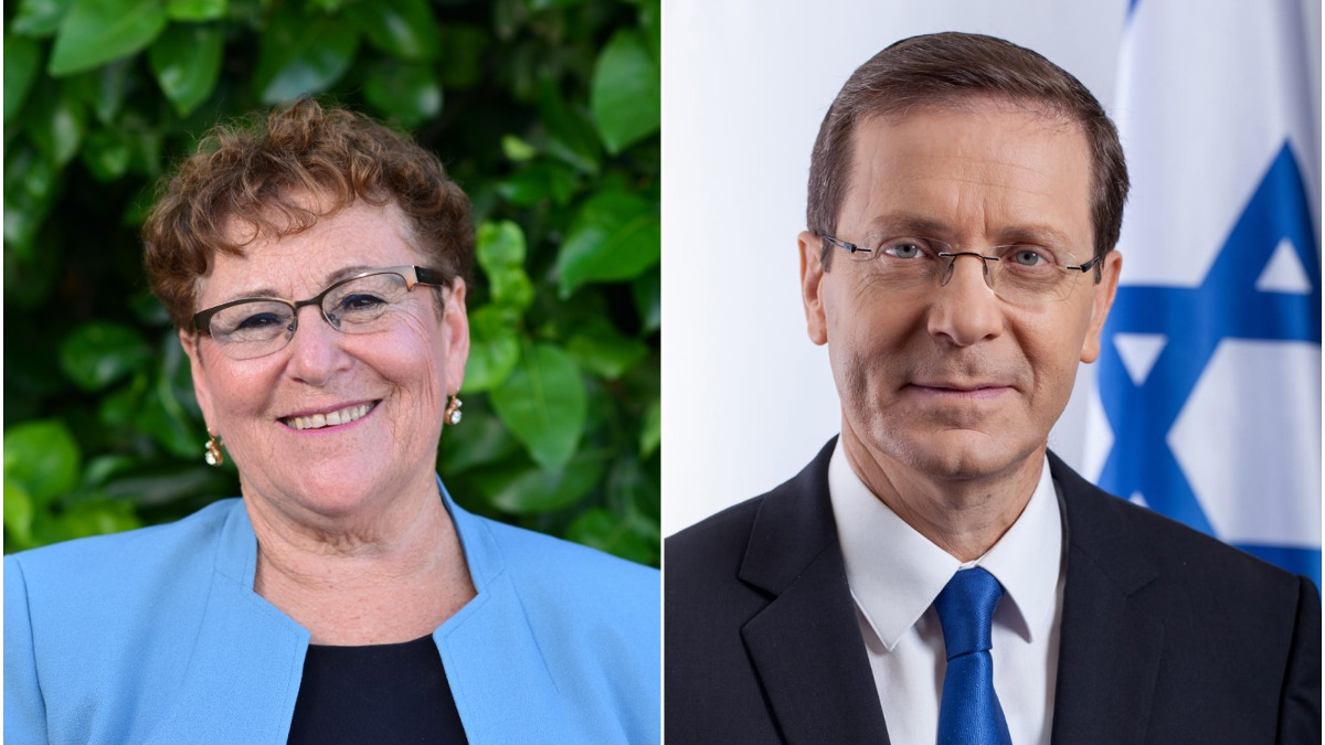 I candidati alla presidenza israeliana Miriam Peretz e Isaac Herzog