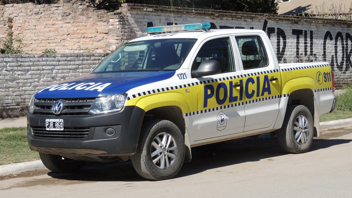 Macchina della polizia Argentina