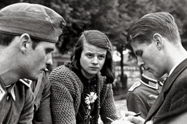 Sophie Scholl, fondtarice del mlovimento tedesco antifascista Rosa Bianca