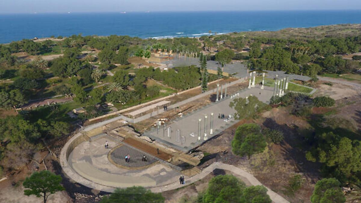 La basilica romana ritrovat al Parco Archeologico di Ashkelon