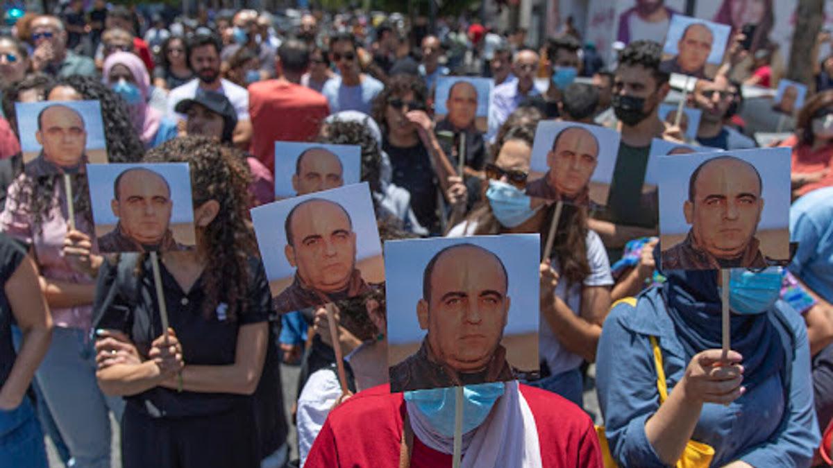 Proteste contro la ANP per la morte di Nizar Banat (foto Asia News)