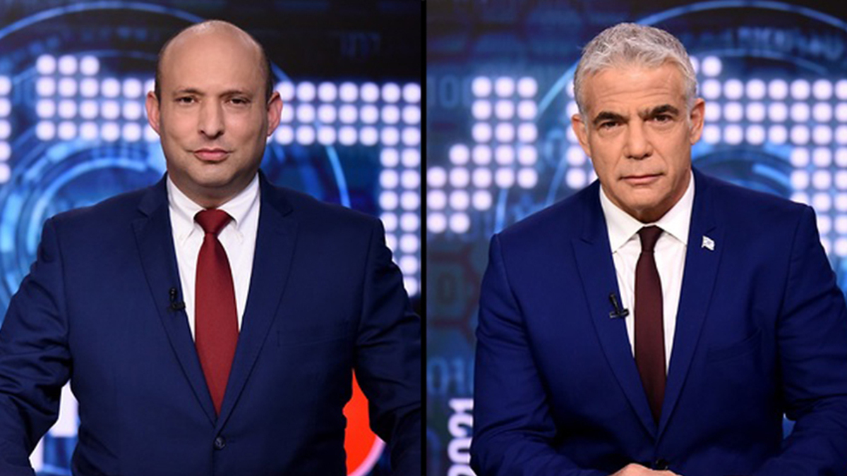 FDa sinistra, Nafatli Bennett e Yair Lapid, che hanno formato un nuovo governo in Israele