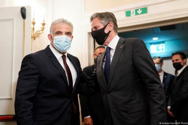 Antony Blinken e Yair Lapid a Roma