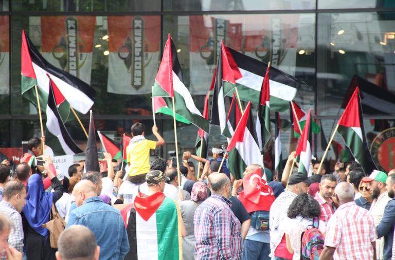 Manifestazione pro Palestina contro Israele a Rotterdam nel 2017