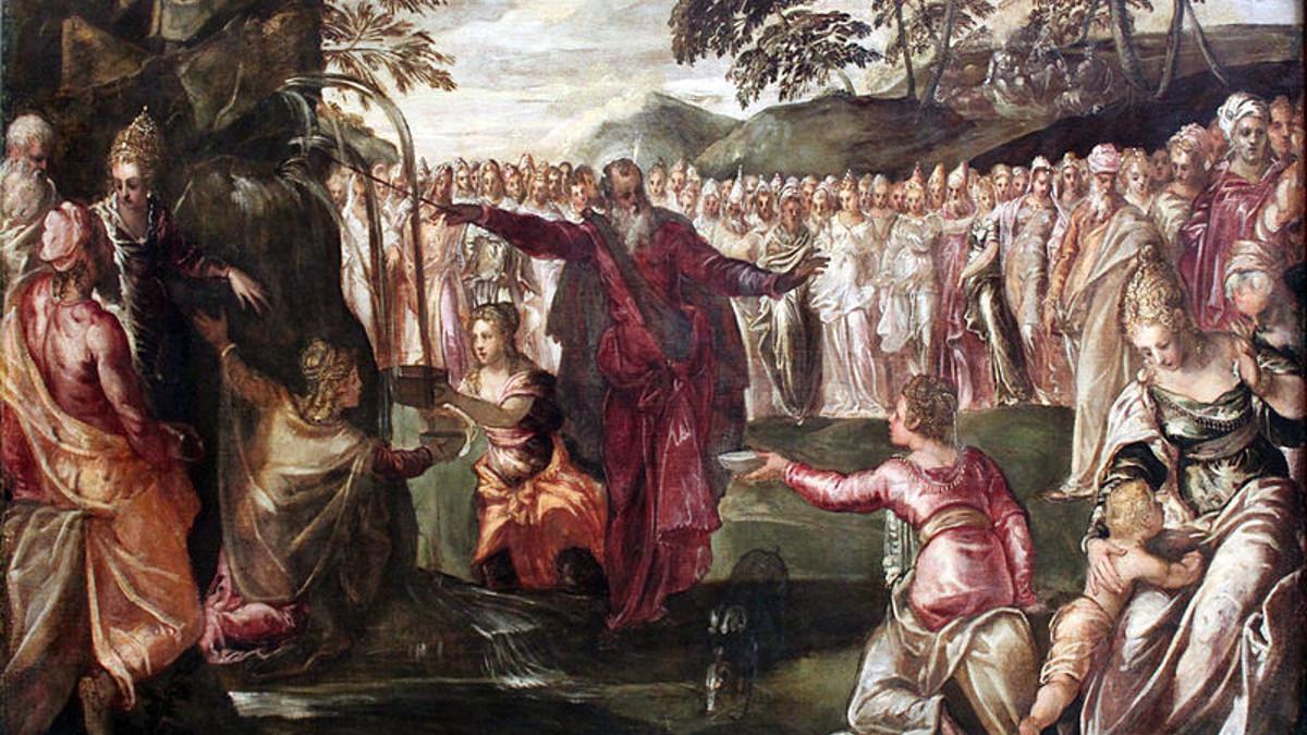 Mosè colpisce la roccia (Tintoretto, Mosé colpisce la roccia)