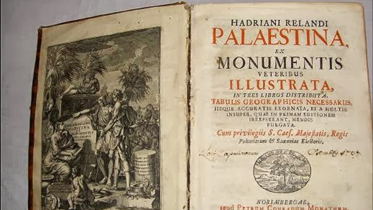 Il libro del XVIII secolo sulla Palestina