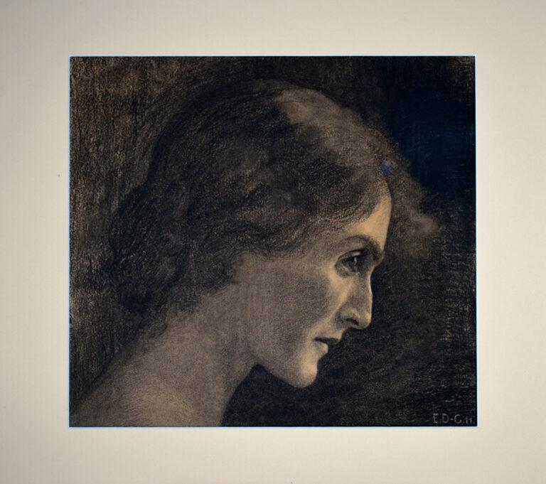 Autoritratto, Emma Dessau Goitein 1911, carboncino su carta