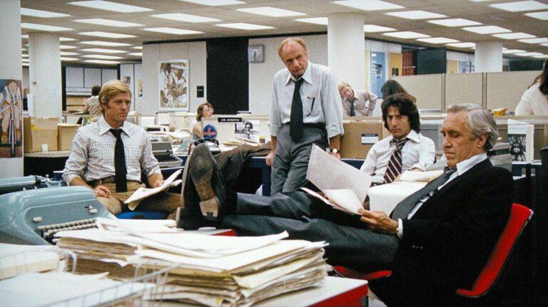 Gli attori nel filom 'Tutti gli uomini del presidente' sullo scandalo Watergate