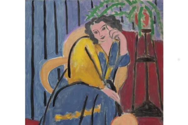 Matisse, Ragazza in giallo e blu con chitarra
