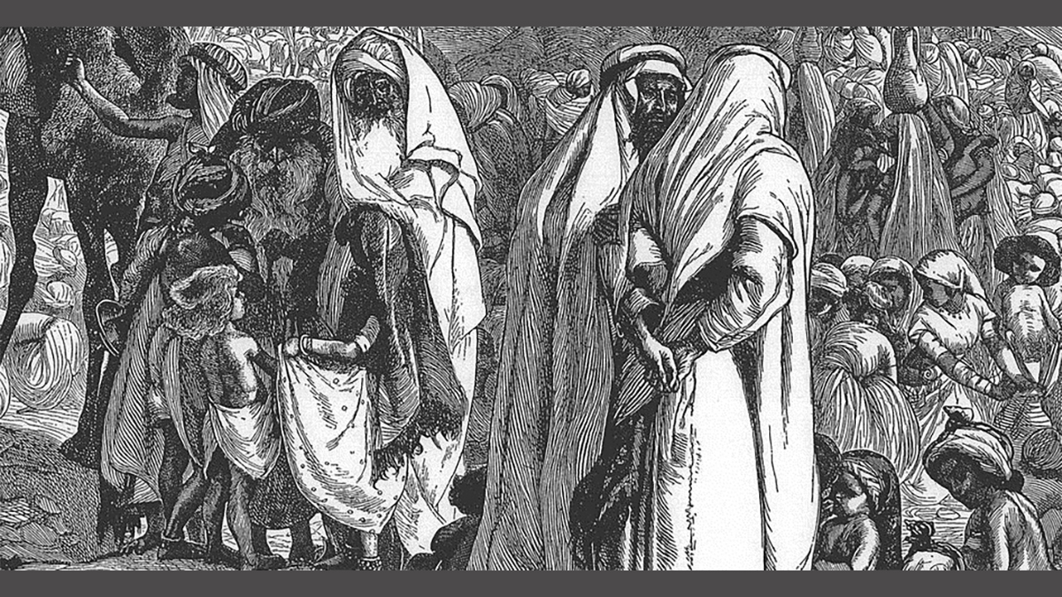 Parashat Mattot Masè ((Foto: Reuben and Gad Ask for Land, di Arthur Boyd Houghton. Wikimedia)