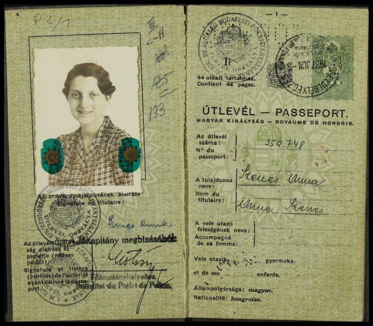 Il passaporto ungherese di Hannah Senesh