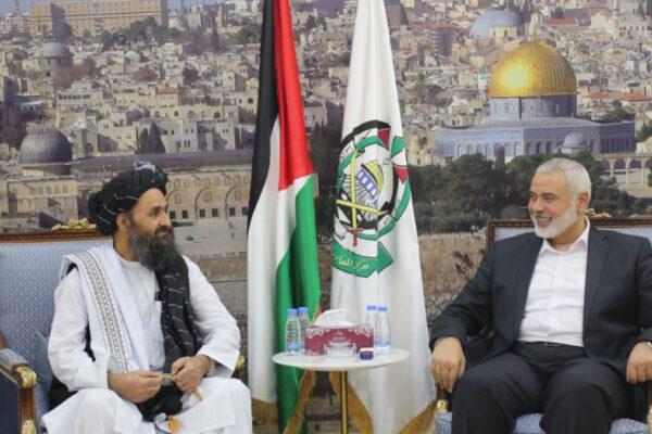 Il leader di Hams Hanyieh incontra il leader dei talebani a maggio di quest'anno