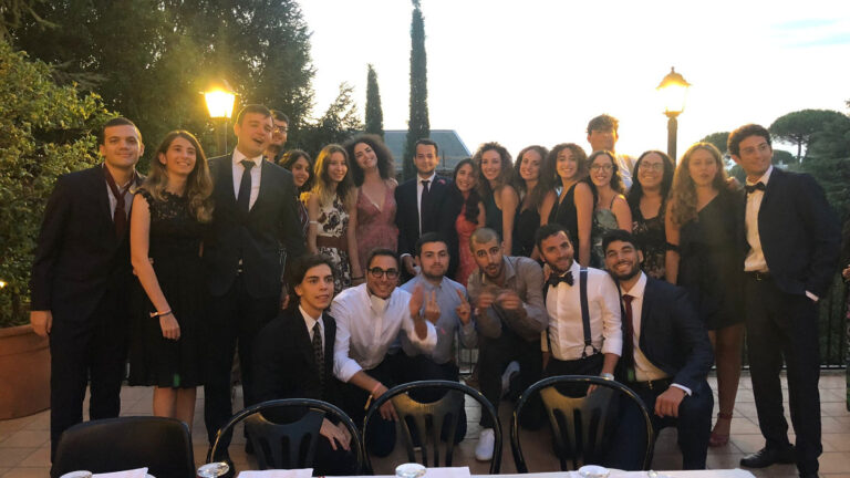 Il gruppo degli ebrei italiani alla Summer U dell'EUJS