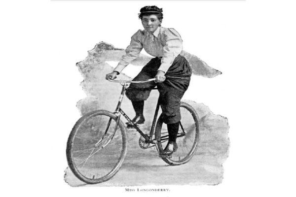 Annie Londoderry fece il giro del mondo per 15 mesi in bici