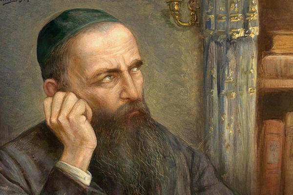Un rabbino nel suo styudio. Perdonare se stessi è importante per perdonare gli altri