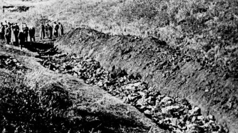Un'immagine di repertorio del massacro di Babij Jar