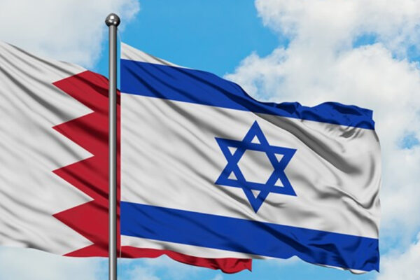 bandiere di Bahrein e Israele