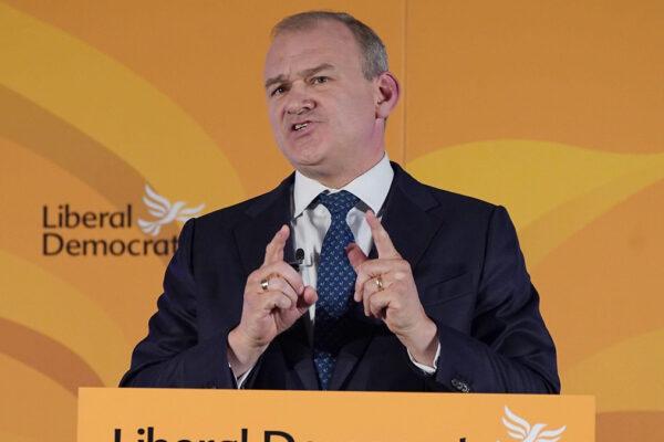 Il leader dei Liberal Democratici britannici Ed Davey