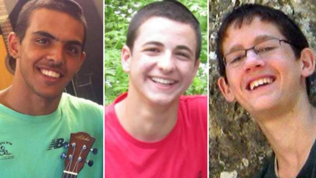 I tre ragazzi israeliani rapiti da Hamas nel 2014